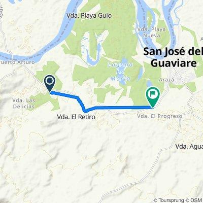 Sporty route in San José del Guaviare