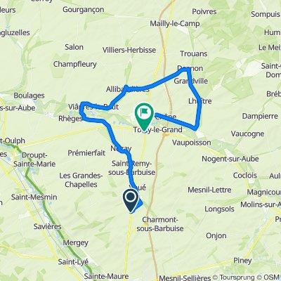 Supersonic route in Arcis-sur-Aube