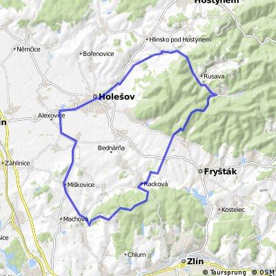 Raztoka-Lukoveček-Racková-Miškovice-Holešov-Raztoka