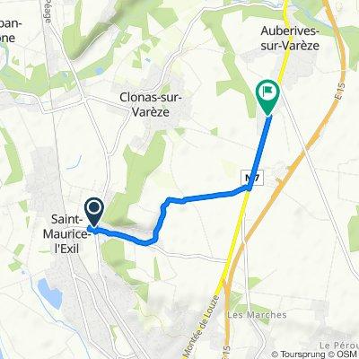Moderate route in Clonas-sur-Varèze