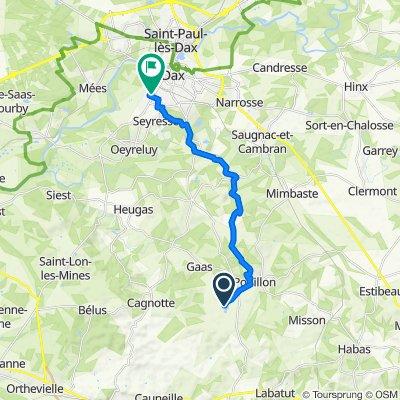 De 915 Route du Lac, Pouillon à 7 Rue Molière, Dax