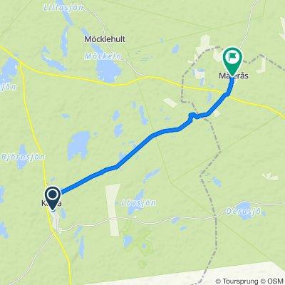 Stora vägen 49, Kosta to Lindvägen 5, Målerås
