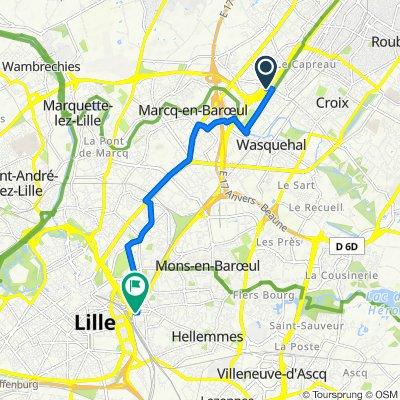 32 Rue du Triez, Wasquehal to 21 Rue Pierre Legrand, Lille