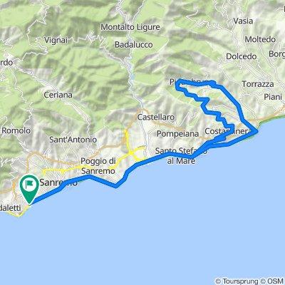 Da Corso Guglielmo Marconi 111, Sanremo a Corso Guglielmo Marconi 111, Sanremo