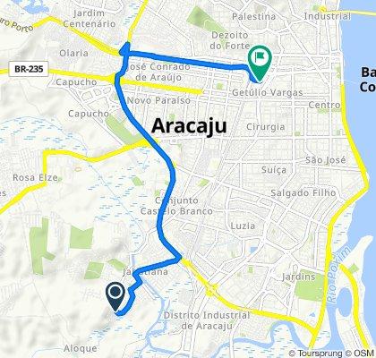 De Rua B, Aracaju a Avenida Sete de Setembro, 1373, Aracaju