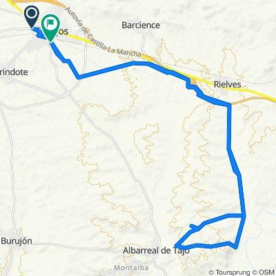 De Calle Minas 32, Torrijos a Camino Albarreal de Tajo 15, Torrijos