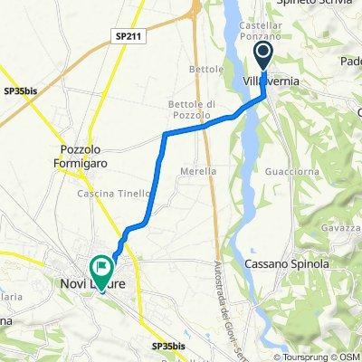 Da Via Domenico Carbone 19, Villalvernia a Via Edilio Raggio 12, Novi Ligure