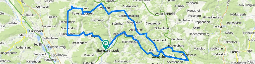 Ebermannstadt - Pottenstein - Heiligenstadt - Drügendorf