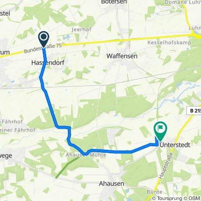 Über Hassendorf nach Unterstedt