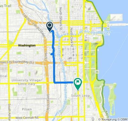 601 W Kinzie St, Chicago to W 14th St, Chicago