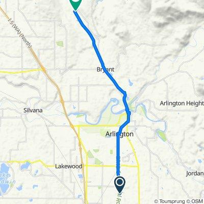 Route from Centennial Trail, Arlington