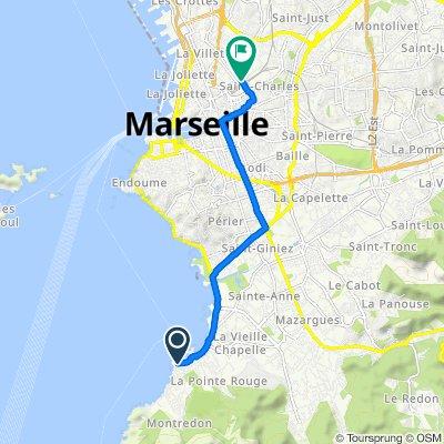 De 12–18 Promenade du Grand Large, Marseille à 73–79 Rue Honnorat, Marseille