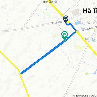 Trần Phú 11, Thành phố Hà Tĩnh to Hàm Nghi 96, Thành phố Hà Tĩnh