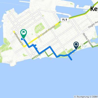 1500 Atlantic Blvd, Key West to Duval St, Key West