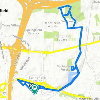 6710 Metropolitan Center Dr, Springfield to Metropolitan Center Dr, Springfield