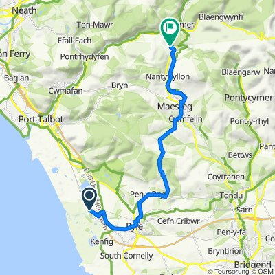 Cottage Park, Port Talbot to 1–20 Maes-yr-awel, Maesteg