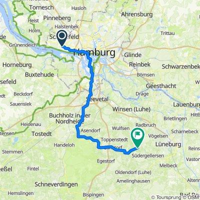 nach Westergellersen bikemap