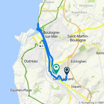 Moderate route in Saint-Léonard