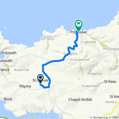 Route to 32 New Road, Port Isaac