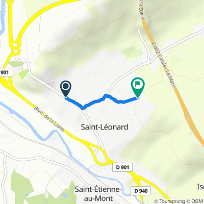 Relaxed route in Saint-Léonard