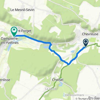 Steady ride in Dampierre-en-Yvelines