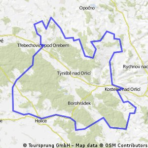 delsi okruh Byst, Jezkovice, Librantice, Kostelec, Holice