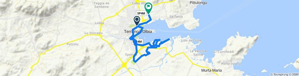 Da Via Gabriele D'Annunzio 2, Olbia a Via Capo Verde, Olbia