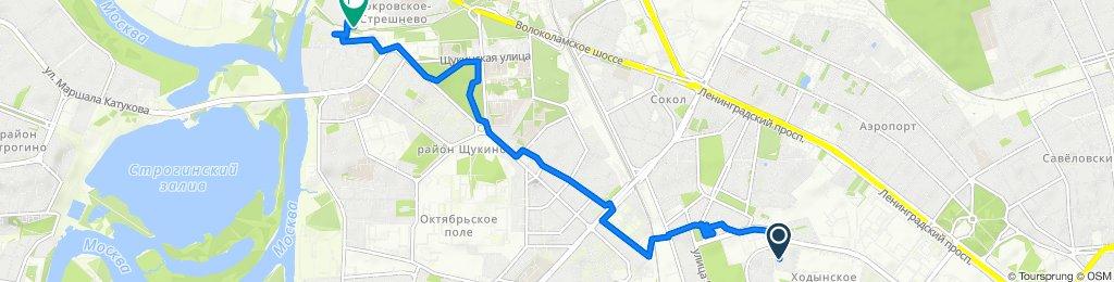 От Москва до Полесский проезд 16 cтр. 1, Москва