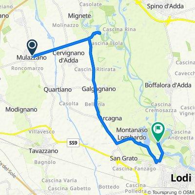Restful route in Montanaso Lombardo