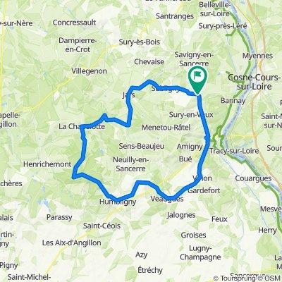 Ste Gemme - Jars - La borne - Humbligny - Veaugues - Vinon - Sancerre - Ste Gemme