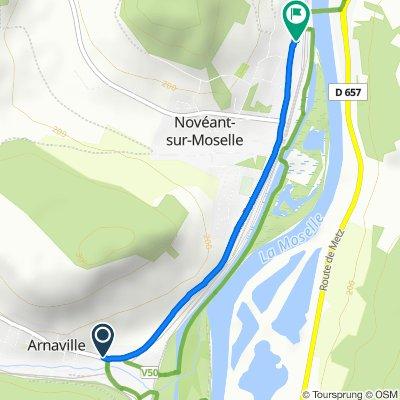 De 1 Rue de Novéant, Arnaville à 88 Rue Foch, Novéant-sur-Moselle