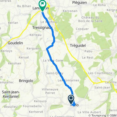 Restful route in Lanvollon