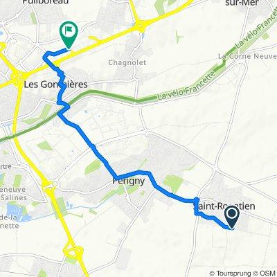 De Rue des Gentilshommes, Saint-Rogatien à 62bis Rue du 18 Juin, Puilboreau
