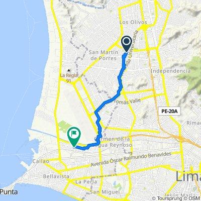 Ruta a Avenida Santa Rosa (auxiliar), Callao