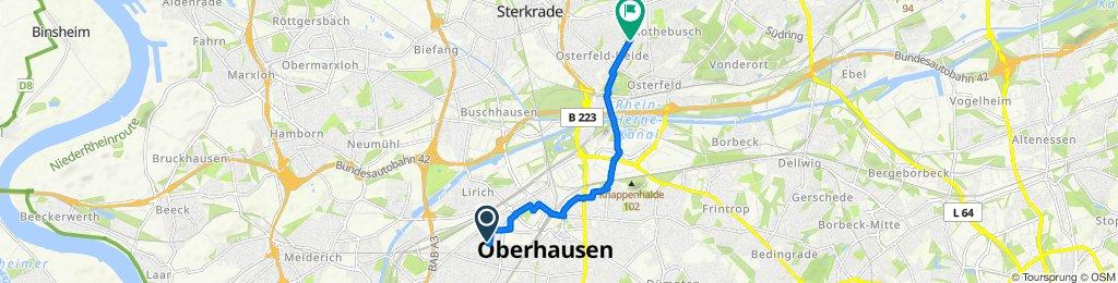 Route von Ottilienstraße 32, Oberhausen