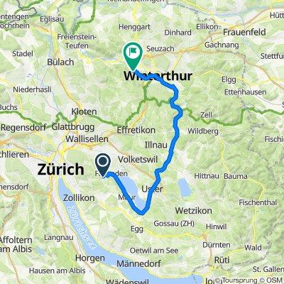 Fällanden nach Wieshofstrasse 117, Winterthur