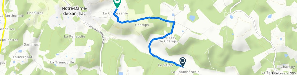 Relaxed route in Notre-Dame-de-Sanilhac