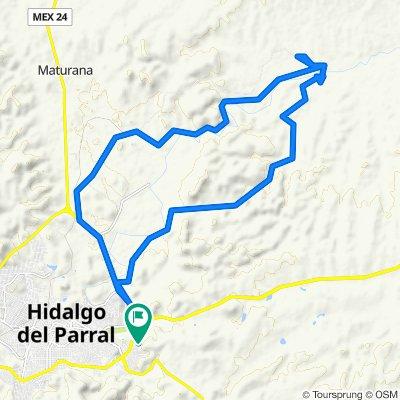 De Calle Guillermo Licon Baca, Hidalgo del Parral a Calle Guillermo Licon Baca, Hidalgo del Parral