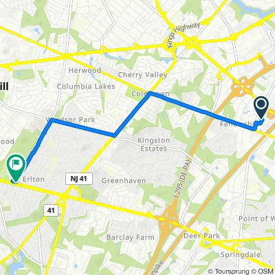 350 Century Pkwy, Mount Laurel to 1000 NJ-70 W, Cherry Hill