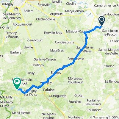 De D180, Le Mesnil-Mauger à 3–5 Rue des Rosiers, Tréprel