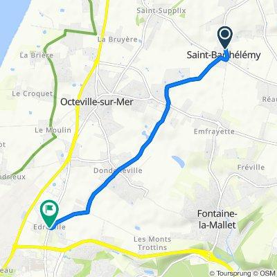 Blistering ride in Octeville-sur-Mer