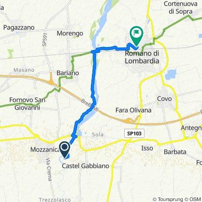 Percorso per Via Rinaldo Pigola 1/A, Romano di Lombardia