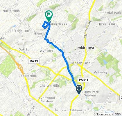 Restful route in Glenside