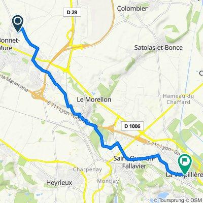 De 16 Rue de la Perdrix, Saint-Bonnet-de-Mure à Place du Docteur Ogier, La Verpillière