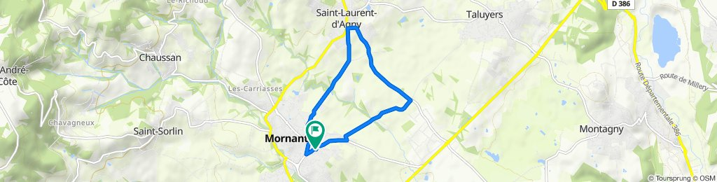 Relaxed route in Mornant