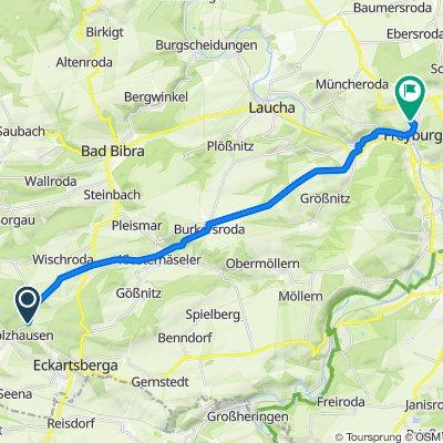 Kastanienallee 1b–1c, Eckartsberga nach Querfurter Straße 10, Freyburg (Unstrut)