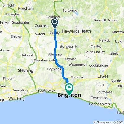 London Road, Haywards Heath to 20–48 Madeira Drive, Brighton
