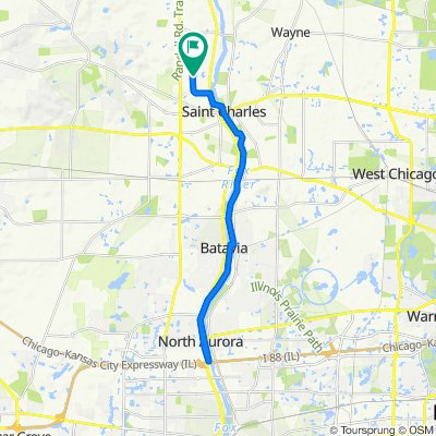 22 miles  to I-88
