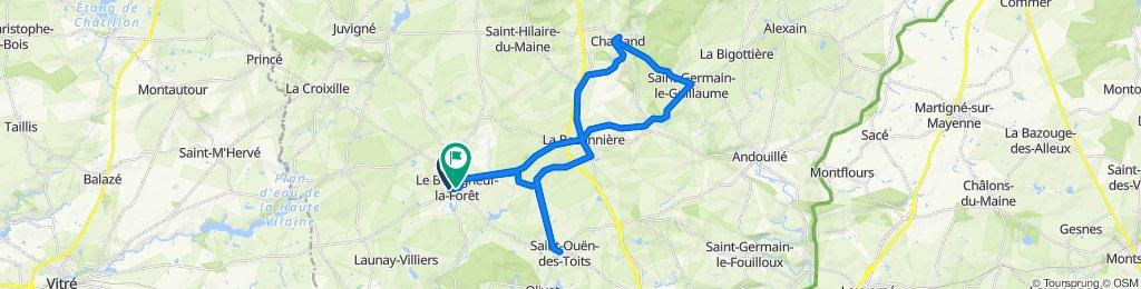 De 3 Allee des Ruettes, Le Bourgneuf-la-Forêt à Rue des Mées, Le Bourgneuf-la-Forêt