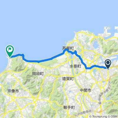 Sporty route in Munakata-Shi